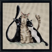 Design Works Crafts Kitty Trio counted cross stitch picture kit