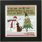 Mill Hill Spaces in Between Christmas inspirational beaded counted cross stitch kit