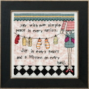 Mill Hill Curly Girl Design - Simple Wish Christmas counted cross stitch kit
