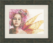 Lanarte Romantic Collection - Fairy Counted Cross Stitch picture kit