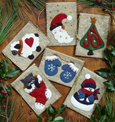 Rachel's of Greenfield Gift Bag Ornaments - Christmas embroidery kit