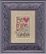 Lizzie Kate Snippet, Be Mine Valentine - Counted cross stitch pattern, chart