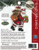 Dimensions Christmas Counted cross stitch kit - Santa with Bag Ornament, Susan Winget
