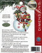 Dimensions Christmas Counted cross stitch kit - Snowman with Sweets Ornament, Susan Winget