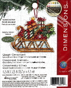 Dimensions set of six Christmas Ornament Counted cross stitch kits