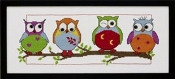 Owl Friends - Permin counted cross stitch kit
