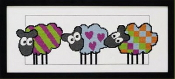 Permin Sheep Friends counted cross stitch picture kit