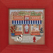 Mill Hill Spring Series Main Street - Pet Shoppe - beaded counted cross stitch kit