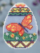 Mill Hill Spring Bouquet Collection - Butterfly Egg - beaded counted cross stitch ornament kit