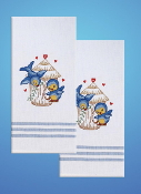 Tobin Home Crafts - Bird Towels stamped for embroidery - A cute pair of birds to embroider
