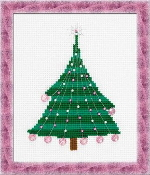 Riolis Christmas Tree with Crystal Balls Beaded Counted Cross Stitch kit