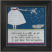 Mill Hill Curly Girl Design - Sparkle inspirational beaded counted cross stitch kit