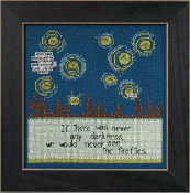 Mill Hill Curly Girl Design - Fireflies inspirational beaded counted cross stitch kit
