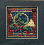Mill Hill Buttons Beads Winter Series - French Horn Christmas beaded counted cross stitch kit
