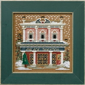 Mill Hill Buttons Beads Winter Series Christmas Village - Palace Theater beaded counted cross stitch kit