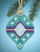 Mill Hill Christmas Jewels Jade Ornament Beaded Counted cross stitch kit