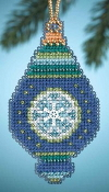 Mill Hill Christmas Jewels Lapis Ornament Beaded Counted cross stitch kit