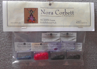 Mirabilia Designs Luna NC205E Nora Corbett embellishment pack, Mill Hill Beads treasures