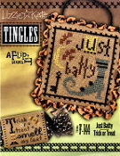 Lizzie Kate Tingles Double Flip Just Batty Trick or Treat Halloween Counted cross stitch pattern chart buttons