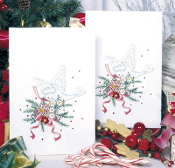 Tobin Home Crafts - Holiday Doves Christmas Kitchen Towels stamped for embroidery