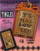 Lizzie Kate Tingles Double Flip Its Halloween Fright Night Counted cross stitch pattern chart buttons