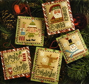 Lizzie Kate Tiny Tidings XIX Christmas counted cross stitch chart with embellishments