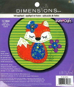 Dimensions Felt Applique Little Fox embroidery kit