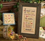 Lizzie Kate Boxer - I cannot count my day complete counted cross stitch pattern, linen and embellishments
