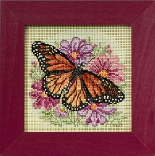 Mill Hill Spring Series Winged Monarch Butterfly beaded counted cross stitch kit