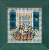 Mill Hill Spring Series Window Box beaded counted cross stitch kit