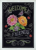 Design Works Crafts Welcome Friends counted cross stitch picture kit