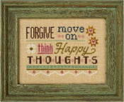 Lizzie Kate Flip-It, Forgive Move On - Counted cross stitch pattern, chart, button