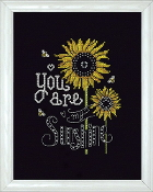 Design Works Crafts You Are My Sunshine counted cross stitch picture kit