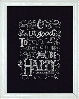 Design Works Crafts Just Be Happy counted cross stitch picture kit