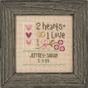 Lizzie Kate - A Little Wedding counted cross stitch pattern fabric charm