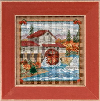 Mill Hill Autumn Series Country Mill beaded counted cross stitch kit