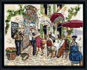 Design Works Crafts Counted Cross Stitch Picture kit - Cafe Dance
