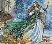 Dimensions Gold Collection Woodland Entrantress - counted cross stitch picture kit