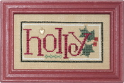 Lizzie Kate Double Flip, Holly Stocking - Christmas Counted cross stitch pattern, chart, charms