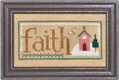 Lizzie Kate Double Flip, Faith Cheer - Christmas Counted cross stitch pattern, chart, charms