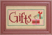 Lizzie Kate Double Flip, Gifts Wonder - Christmas Counted cross stitch pattern, chart, charms