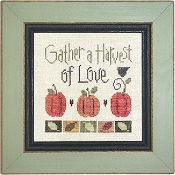 Lizzie Kate Snippet, Gather a Harvest Counted cross stitch pattern, chart