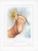 Vervaco - Baby Foot Birth Announcement counted cross stitch kit