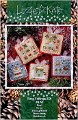 Lizzie Kate Tiny Tidings XX Christmas counted cross stitch chart with embellishments