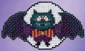 Mill Hill Autumn Harvest collection Boris the Bat Halloween counted cross stitch ornament kit