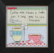 Mill Hill Curly Girl Design - Coffee with Friends inspirational beaded counted cross stitch kit