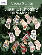 Cross Stitch mini Christmas Stocking Ornaments soft cover book