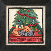 Mill Hill Sticks beaded counted cross stitch kit - Not a Creature was Stirring