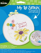 Bucilla My 1st Stitch You're Sweet Beginner counted cross stitch kit