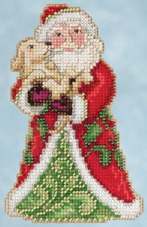 Jim Shore by Mill Hill - Best Friend Santa JS20-5106 Christmas Ornament beaded counted cross stitch kit